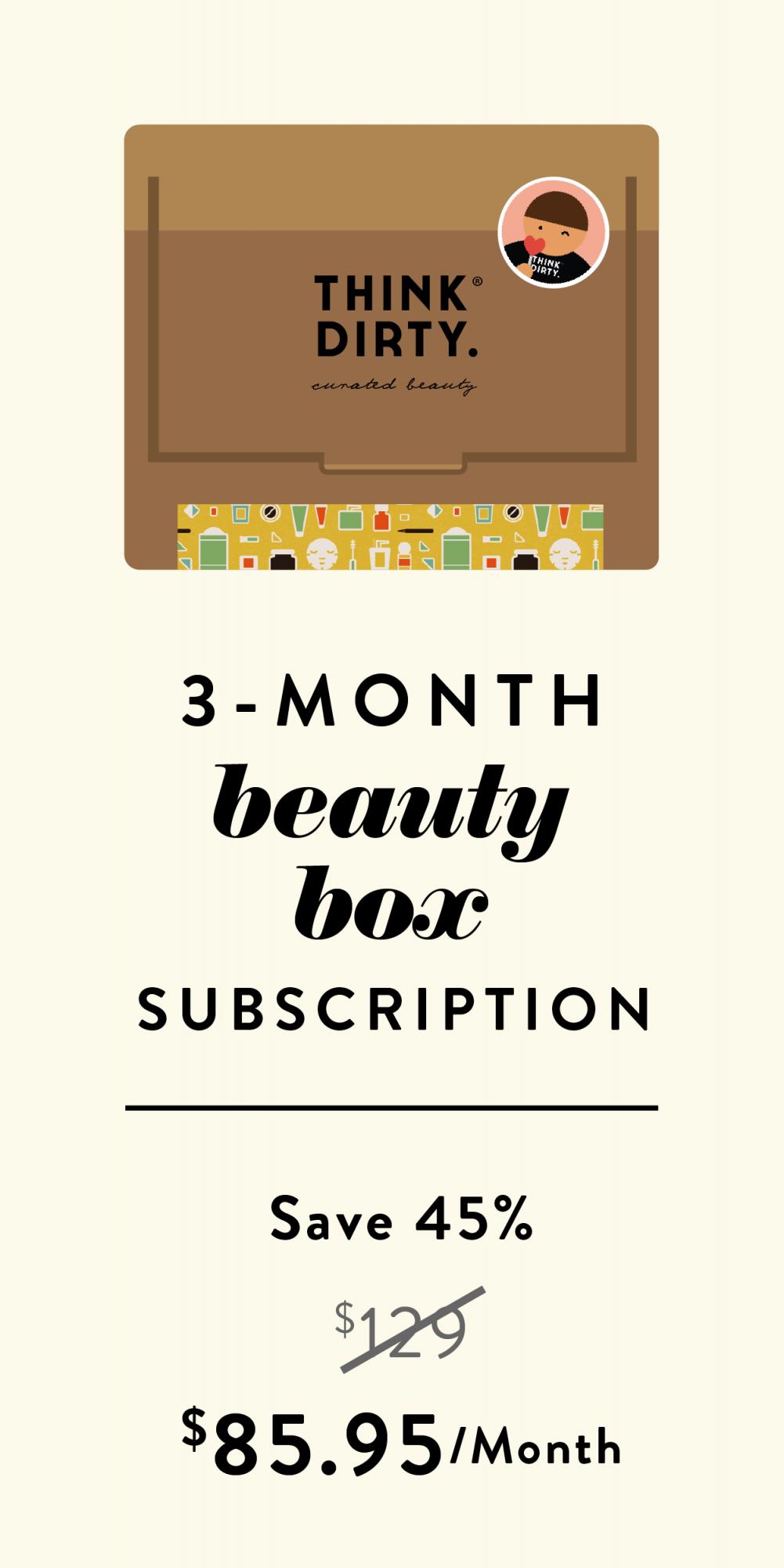 3 month beauty box